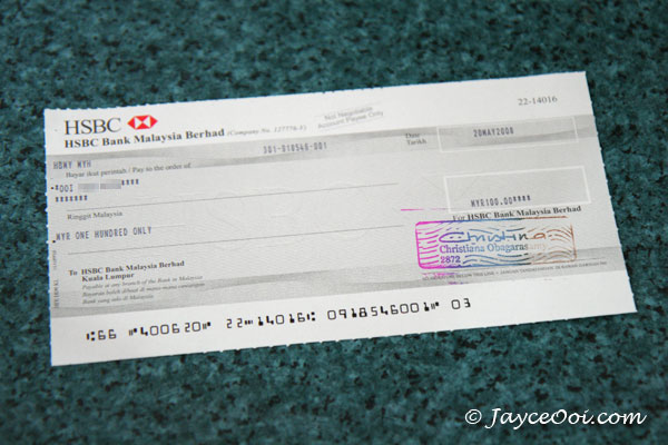 Thanks Advertlets for its second cheque to JayceOoi.com