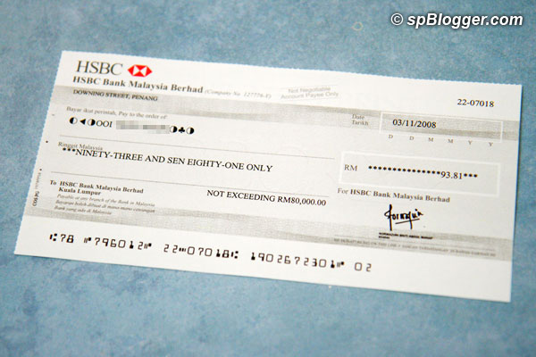 9th NUFFNANG cheque received