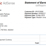The largest Google AdSense Payment so far…