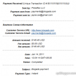 4th Blogads PayPal payment received